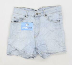 Womens-Preworn-Blue-Denim-Shorts-Size-W28-L3