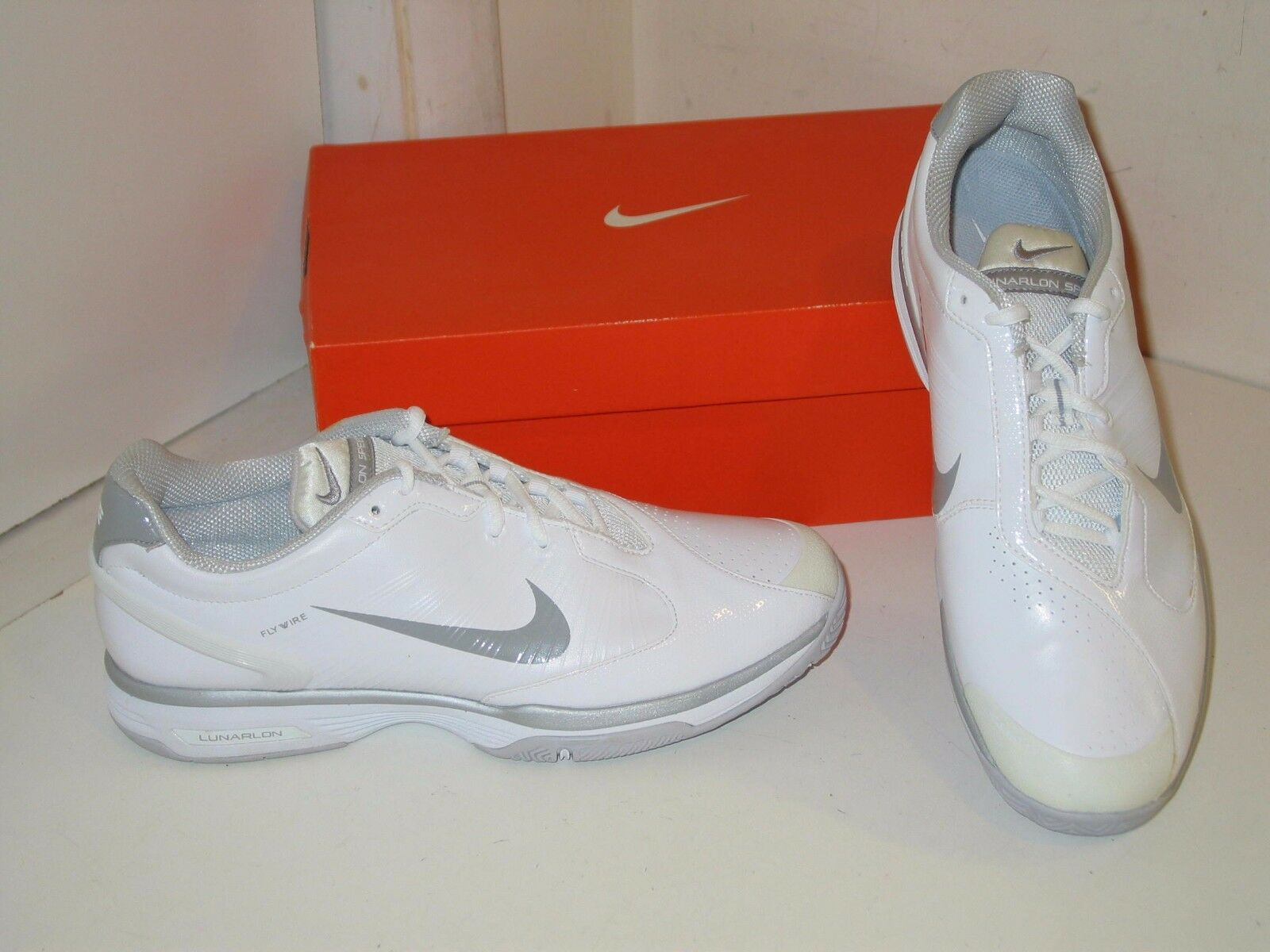 Nike Lunar Speed 2 II Lunarlite Lunarlon Flywire White Tennis Shoes Womens 10.5