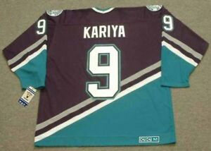 e3990853 PAUL KARIYA Anaheim Mighty Ducks 2003 CCM Vintage Throwback Away NHL ...