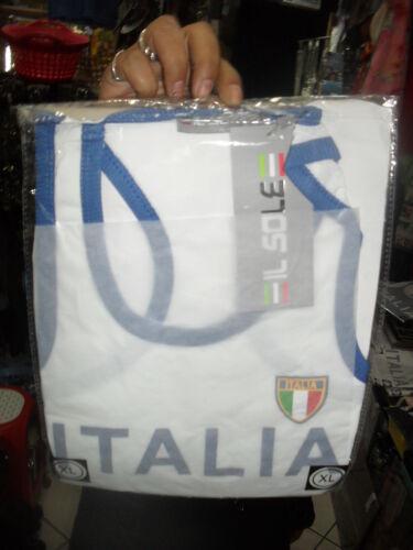 1 T-SHIRT BIANCA ITALIA  CALCIO PIRLO BALOTELLI   CANOTTIERA CANOTTA ITALIA