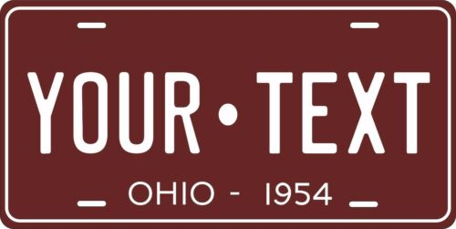 Ohio 1954 License Plate Personalized Custom Car Auto Bike Motorcycle Moped