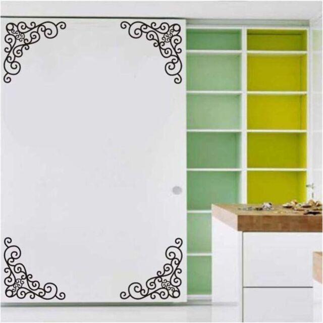 4Pcs Wall Decal Decor Window Bath Room Mirror Art Sticker Removable Paper  DIY