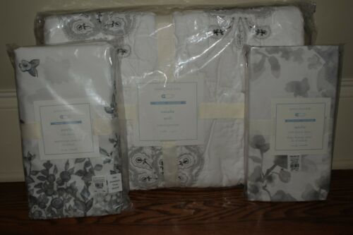 skirt /& sheet gray NWT Pottery Barn Kids Natalie nursery crib toddler quilt