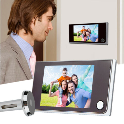 "3.5/"" Digital Peephole Viewer Door Eye Doorbell Video Camera Motion Detector 120°"