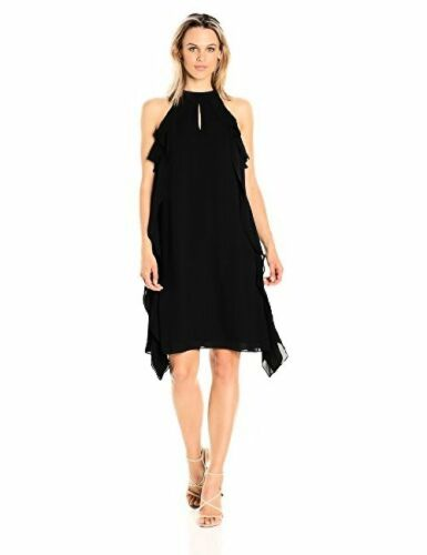 uitlopende Nine Georgette WCascadingPick West Szcolor Womens jurk Jurken wijd zqSMGUVp