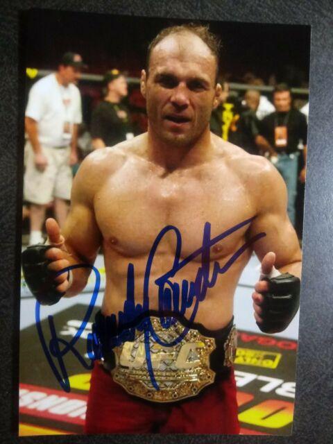 RANDY COUTURE Authentic Hand Signed Autograph 4X6 Photo - UFC LEGEND FIGHTER