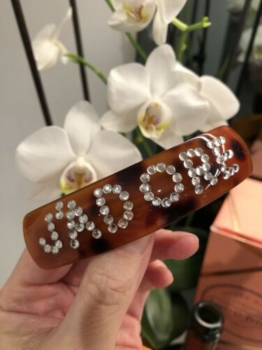 Personalised Barrette Hair Clip Diamante Crystal Blogger Worn By LORNA LUXE