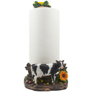Holstein Cow Countertop Paper Towel Holder For Country