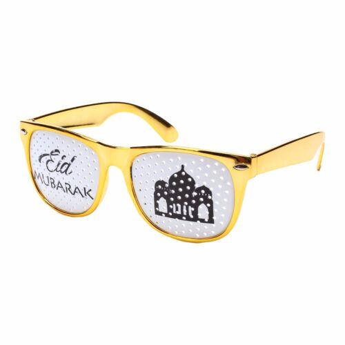 Islam Felice EID MUBARAK Ramadan metallico Novità Occhiali Tonalità Oro Argento