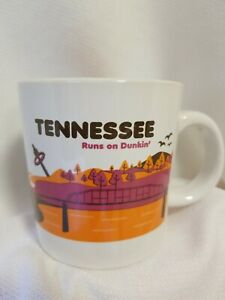 Dunkin Donuts TENNESSEE Destinations Coffee Mug Cup 2012 Ceramic