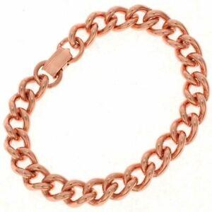 00dff652c7e02 Details about Pure Copper Chain Link Bracelet Mens & Womens