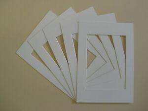 Paquete-De-10-soportes-de-marco-de-montaje-de-imagen-fotografica-Blanco-Todas-Las-Tallas-A3-A4-Nuevo