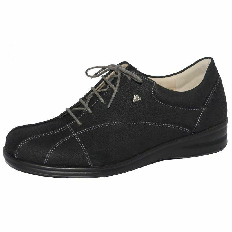 Finn Women's Ariano Leather Comfort shoes Black Longbe 3400-274099