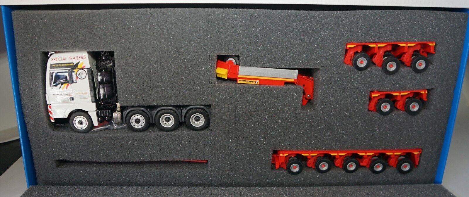 ventas directas de fábrica Conrad Conrad Conrad 1 50 Escala Man TGX 4AXLE Vagón & FAYMONVILLE variomax Remolque (MIB)  barato y de moda