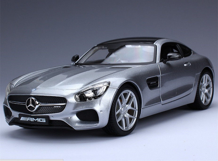 Maisto 1 18 Mercedes Benz AMG GT Diecast Model Car Silber NEW IN BOX