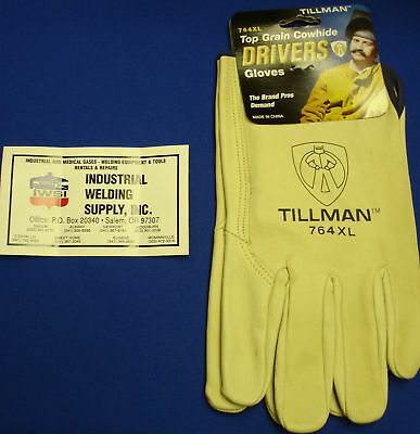 Genuine Tillman 1414 Drivers Gloves Top Grain Pearl Cowhide SM MED LG XL Work