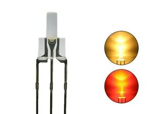 S728-10-Stk-DUO-Tower-LEDs-2mm-Bi-Color-warmweiss-rot-Lichtwechsel-Loks-DIGITAL