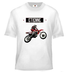Tee shirt enfant moto cross personnalis/é avec votre pr/énom