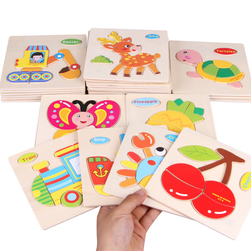 28 PCS Wooden Puzzle Learning Educational Toys for Boys & Girls Ages 3+ (WP-28)