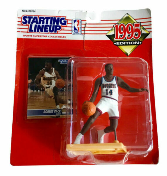 1995 STARTING LINEUP NBA Robert Pack Denver Nuggets Basketball Kenner Slu
