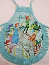 Vintage DISNEY Plastic PETER PAN Blue DOLL APRON Mermaid Tinkerbell Wendy