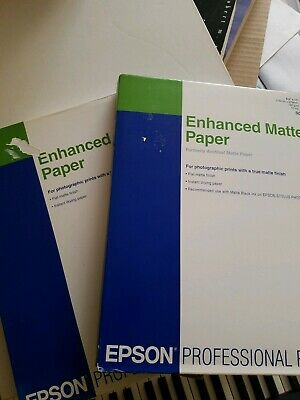 "Ultra Premium Enhanced Matte Paper with Adhesive 8.5/"" x 11/"" For Epson 50 Sheets"