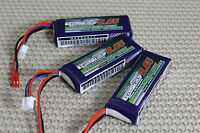 3x Turnigy Nano Tech 950mah 7.4v 2s 25c-50c Lipo Battery Blade 200qx Cx2 Xk X251