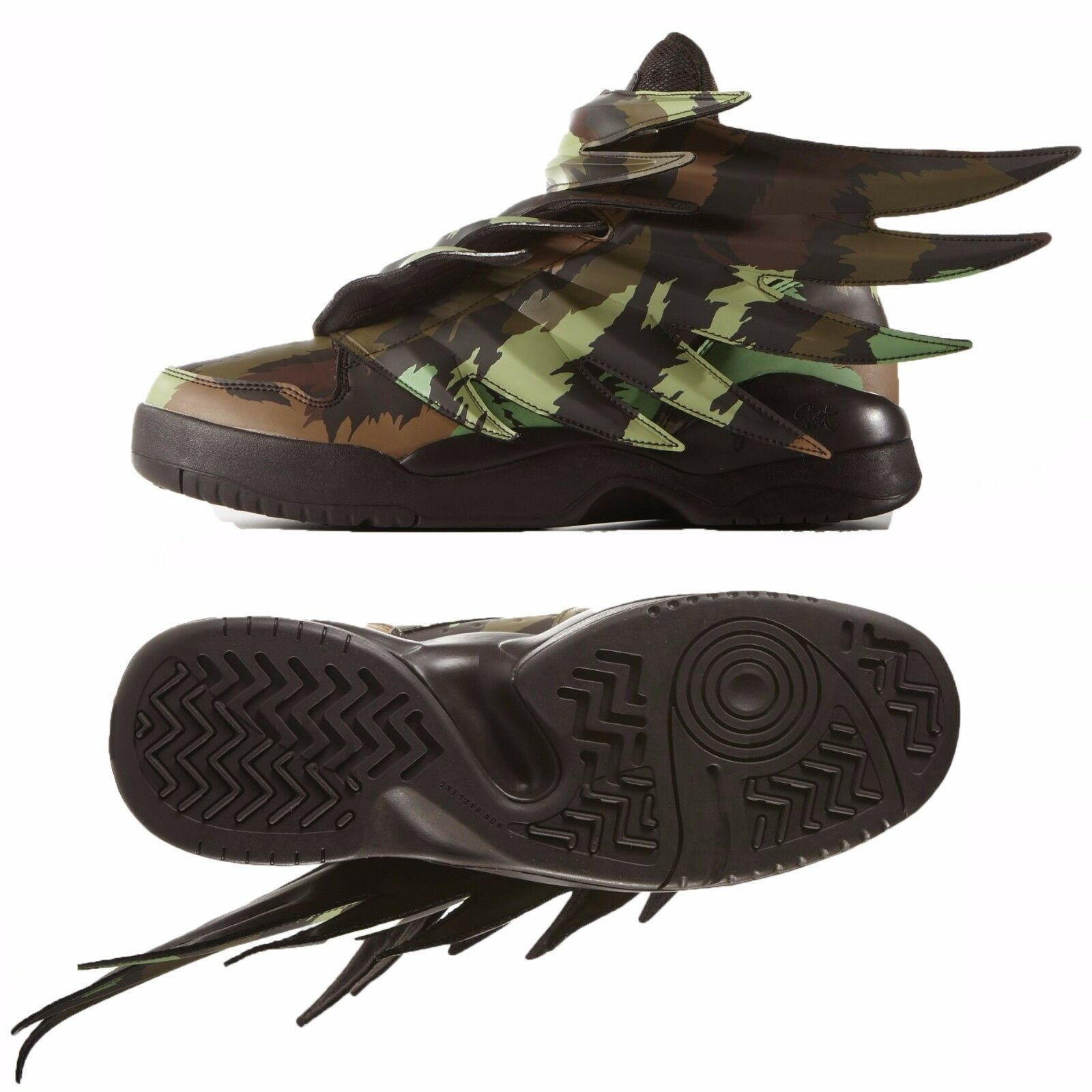 Adidas ObyO JS Jeremy Scott Wings 3.0 Print S77804 Sauvage Batman Camo Men Shoes