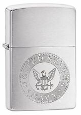 Zippo Windproof Lighter With The United States Navy Seal, 29385, New In Box