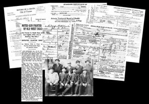 Details about Wyatt Earp PHOTO + Obituary + DEATH CERTIFICATES, OK CORRAL,  Tombstone,Arizona