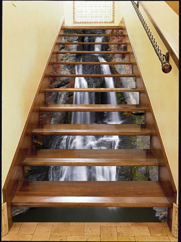 3D stairs water nature Risers Decoration Photo Mural Vinyl Decal Wallpaper CA