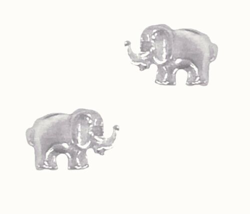 Sterling Silver Elephant Clous Post Boucles d/'oreilles 5x8mm Small