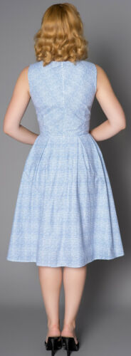 Sheen BREEZE Vintage STRIPED Streifen Retro 50s SWING Dress Kleid Rockabilly