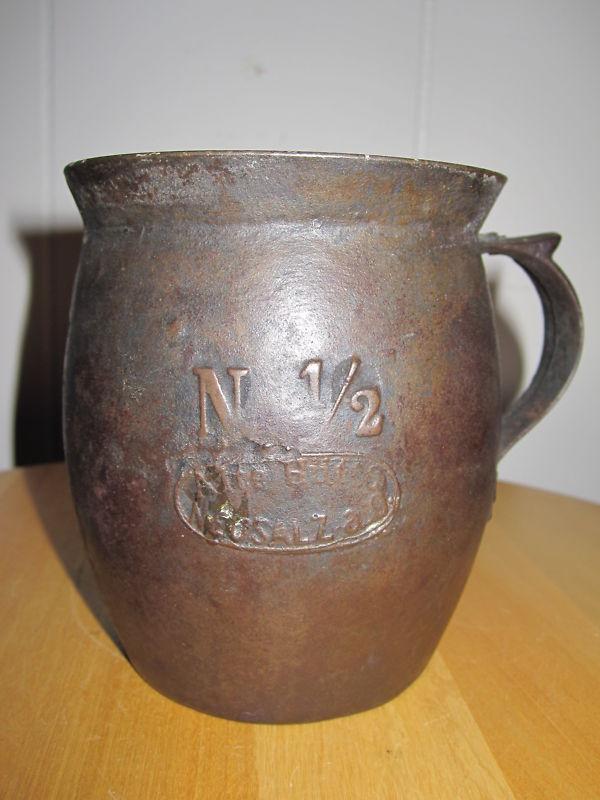 Antique Allemand Fonte émail Londres Royaume-Uni Exhibition Gobelet Foire