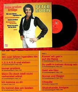 LP Peter Rubin: Seine großen Erfolge (BASF 17 22506-2) D 1975