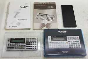 Sharp-PC-1403H-32Kb-Pocket-Computer-Vintage-Boxed-Manuals-Rare-Tested-amp-Working