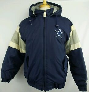 49f49d7cf Vintage Logo 7 NFL Dallas Cowboys Full Zip Winter Puffer Jacket Size ...