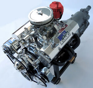 SBC-Chevy-Turn-Key-383-Stroker-Engine-TH350-Transmission-515-HP-Crate-Motor-GM