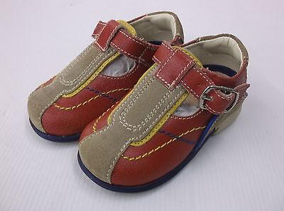 Mister Baby von Dr Scholl Schuhe, Leder/Textil, rot Emilio EU 19-20