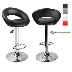 Dettagli su Sgabello Bar girevole sedia moderno regolabile girevole sgabelli cucina 2 pezzi