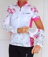 Cycling Bike Jersey Pink White Black Sport Jacket Zip off Sleeves Women SM  L XL c65bb8ccb