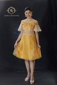 Modern filipiniana dress image