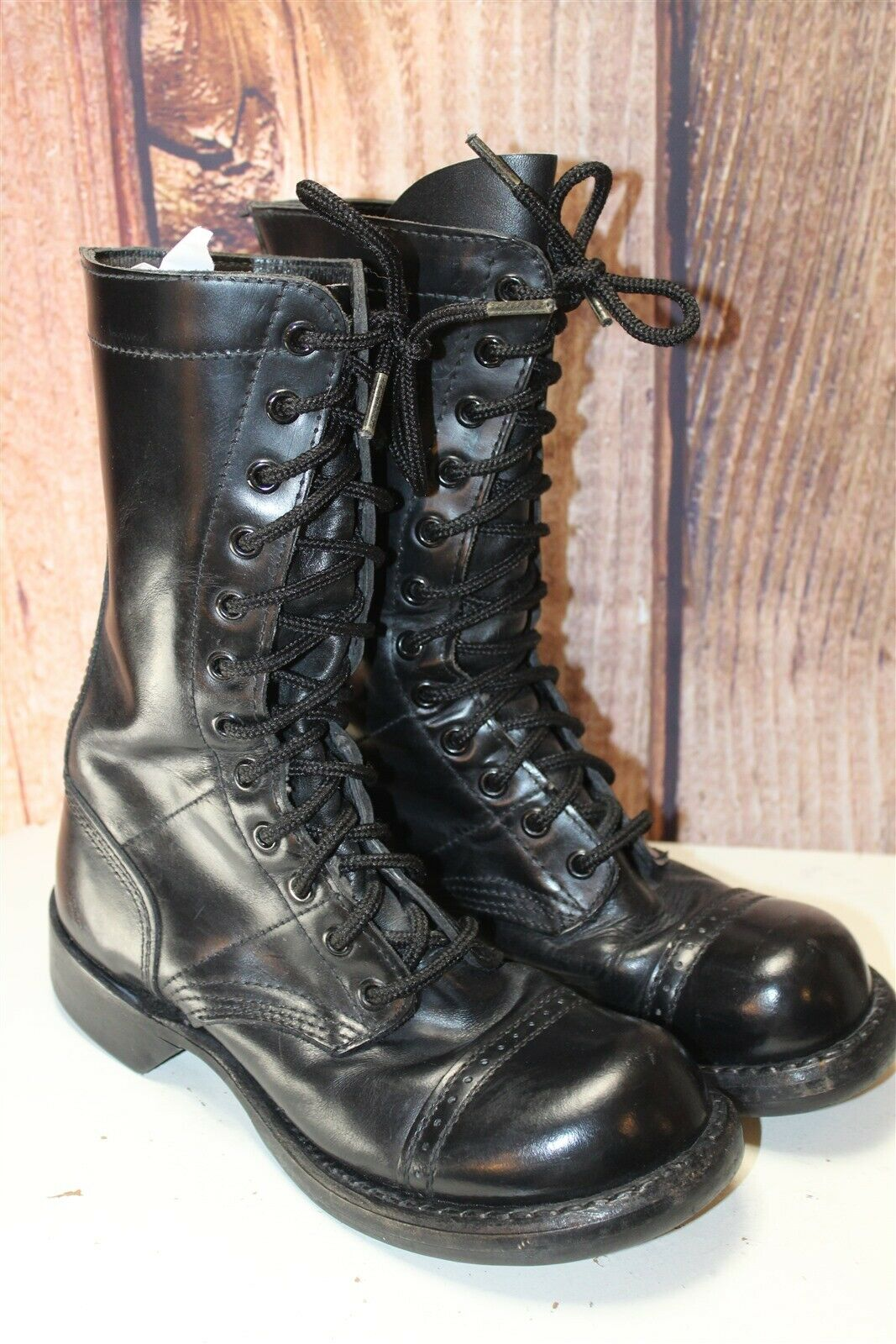 Cocoran 5 M Full Leather Black Combat Military Laced Laced Laced Women's shoes ed720b