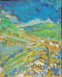Andre-TELLIER-034-034-Vallon-varois-034-GOUACHE-vers-1950-60