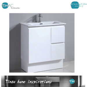 Narrow Ceramic Vanity Unit With