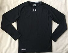 Under Armour Mens HeatGear Compression Long Sleeve Shirt 2XL Black 1236223 NWT