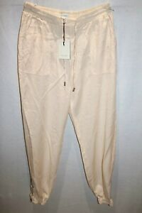 WITCHERY-Brand-Beige-Ankle-Zips-Pull-On-Cargo-Beach-Pant-Size-10-BNWT-TM74
