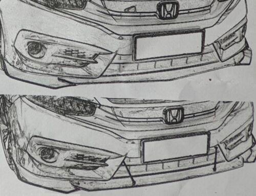 Carbon Paint Front alerón frontal astillas para jaguar XE solapas difusor Dumper