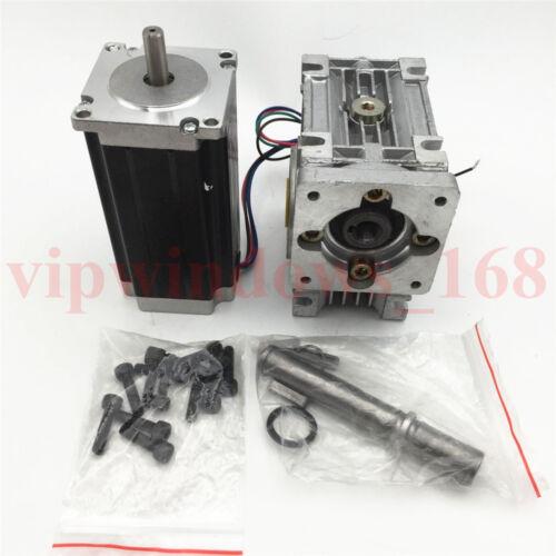 Nema23 Stepper Motor L76mm Worm Gearbox 7.5:1 10:1 15:1 20:1 30:1 Reducer Kit