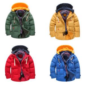 Kinder Duck Coat Hoodie Down Details Winterjacke Warm Lightweight Zu Jungen Parka Snowsuit YH2IWD9E